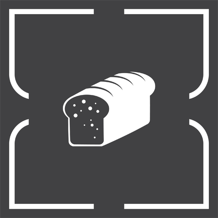 whole grain: Toast bread vector icon. Whole grain food sign. Sweet loaf symbol. Bakery icon.