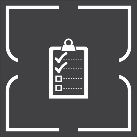 check icon: Check list with two small ok signs vector icon. Clip board with two small ok signs.