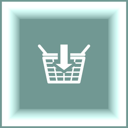 add symbol: Add to shopping basket vector icon. On line shop sign. Web store purchase symbol.
