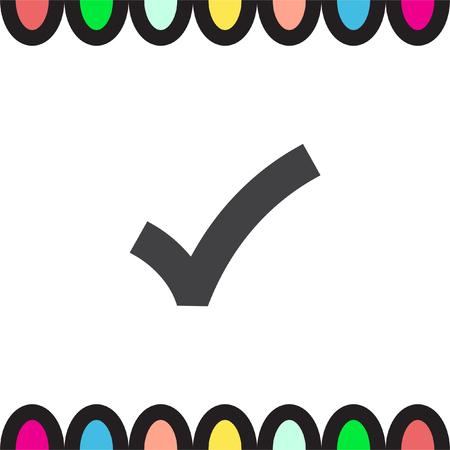 yes check mark: OK sign check mark vector icon. Yes check mark sign. Positive symbol
