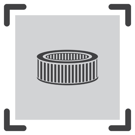 air filter: Car air filter vector icon. Automobile repair service symbol. Car engine part shop sign. Illustration