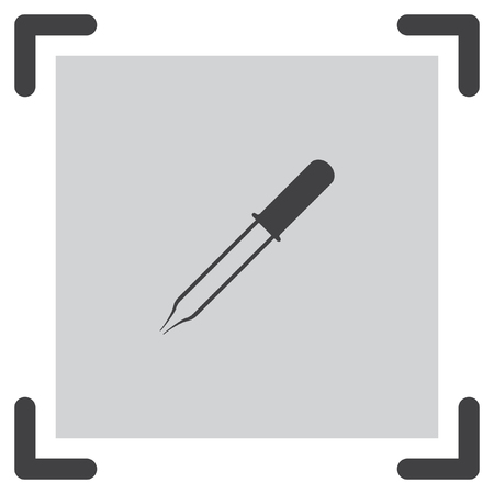 pipette: Pipette vector icon. Eyedropper sign. Droplet symbol