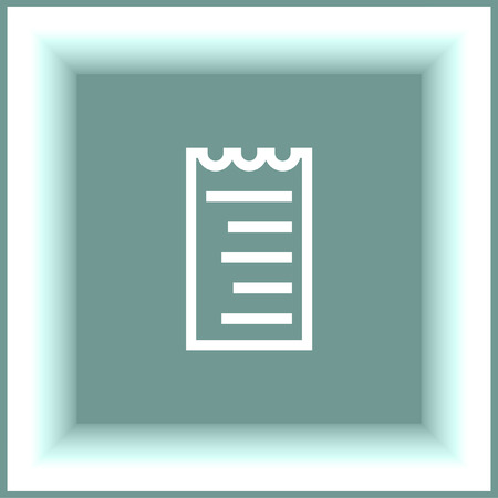 restaurant bill: Receipt line vector icon. Bill sign. Pay document pictograph. Business invoice symbol.
