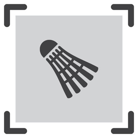 badminton sport symbol: Badminton vector icon. Leisure game ball symbol. Sport competition sign. Illustration