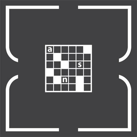 leisure game: Crossword Puzzle vector icon. Leisure game symbol. Illustration