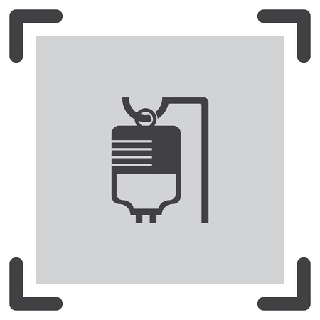 hydrate: IV bag medical vector icon. Infusion sign