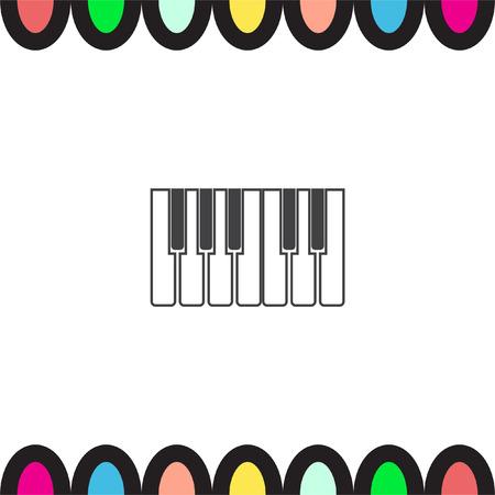 octave: Piano keys vector icon. Instrument keys sign. Music symbol Illustration