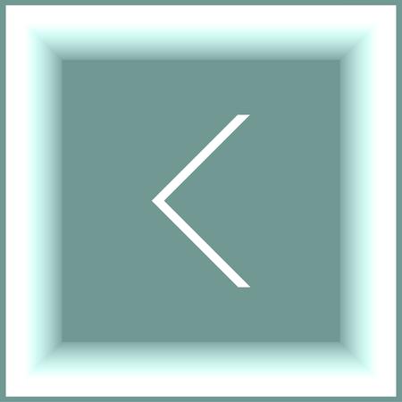 back arrow: Back arrow sign line vector icon. UI control back button. Illustration