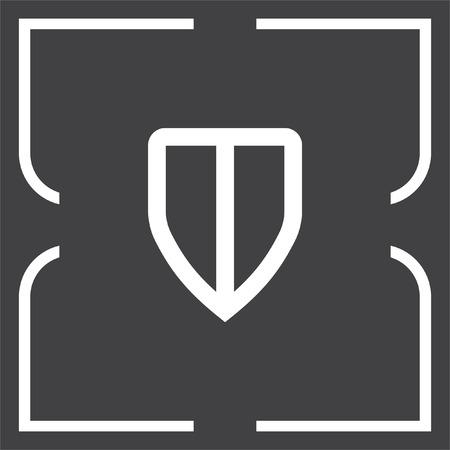 sig: Shield sig vector icon. Protection symbol vector icon. Royal defense symbol.
