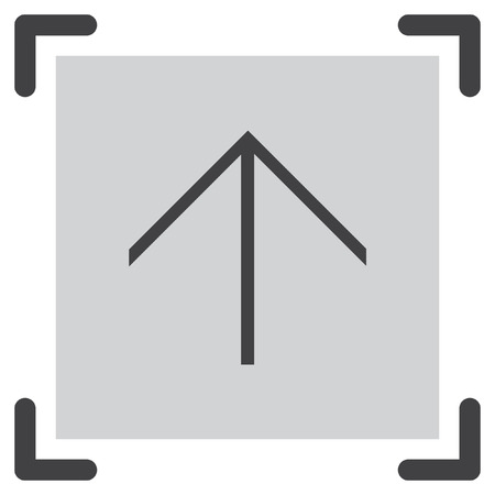 top pointer: Arrow up sign line vector icon. Direction sign line icon. Illustration