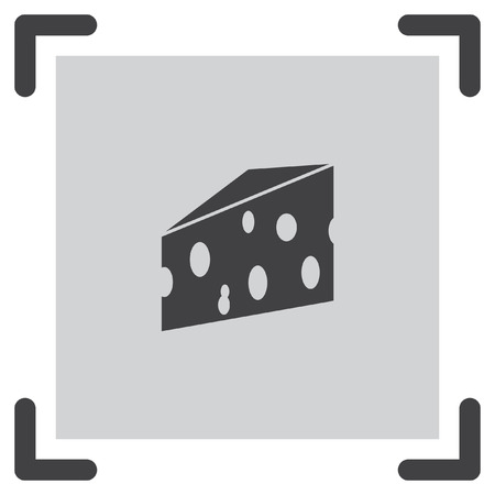 cheddar: Cheese vector icon. Milk product sign. Cheddar symbol.