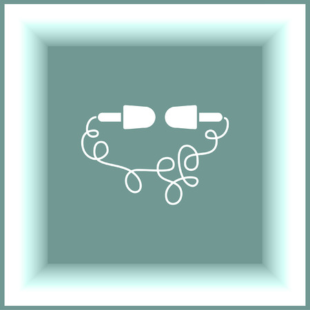 volume control: Headphones line vector icon. Music sign. Volume control pictograph. Sound symbol. Illustration