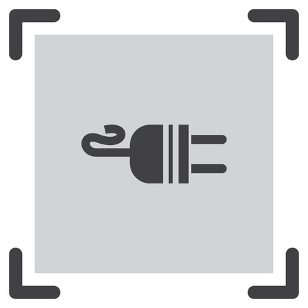 plug adapter: Electric AC Power Plug vector icon. Power sign. Outlet symbol