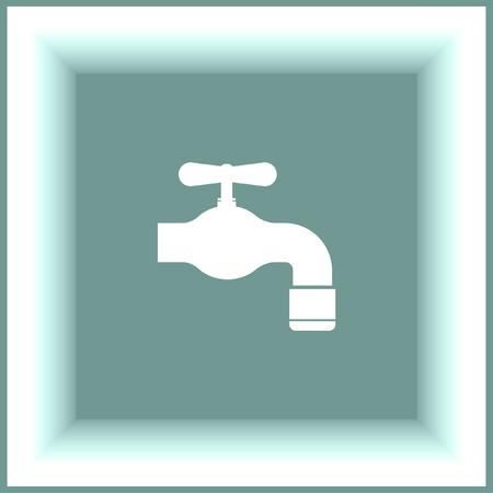 bathroom faucet: Faucet vector icon. Tap sign. Bathroom symbol