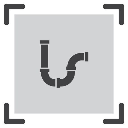 gas tap: Pipes vector icon. Steel water tube sign. Construction piping and plumbing symbol