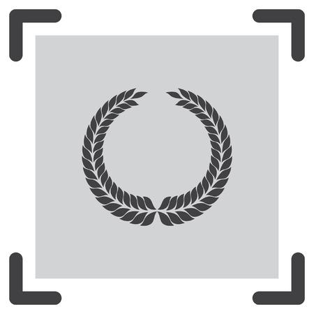 decorations wreaths: Laurel wreath vector icon. Caesar sign. Rome symbol
