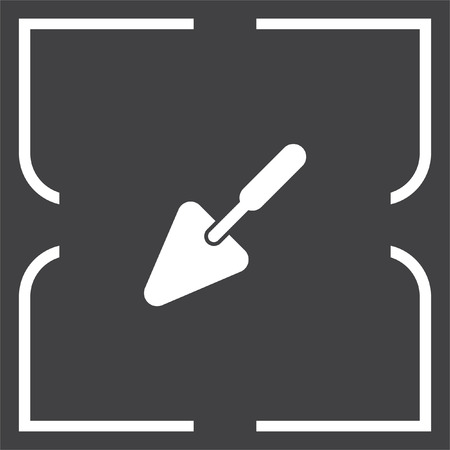 construction equipment: Trowel vector icon. Construction mason equipment. Plastering spatula symbol
