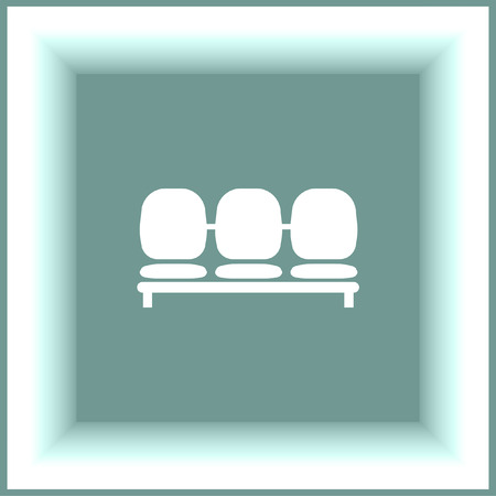 waiting room: Airport Seat vector icon. Waiting room chairs symbol. Illustration