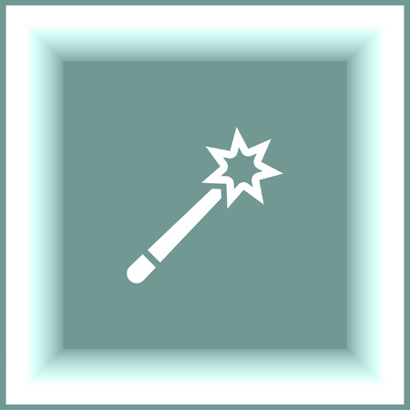sprinkle: Magic wand vector icon. Magician stick sign. Sprinkle symbol Illustration