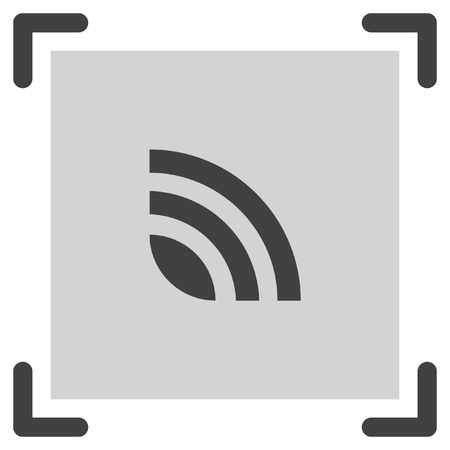 feeds: RSS news feed vector icon. Signal strength sing. Internet symbol