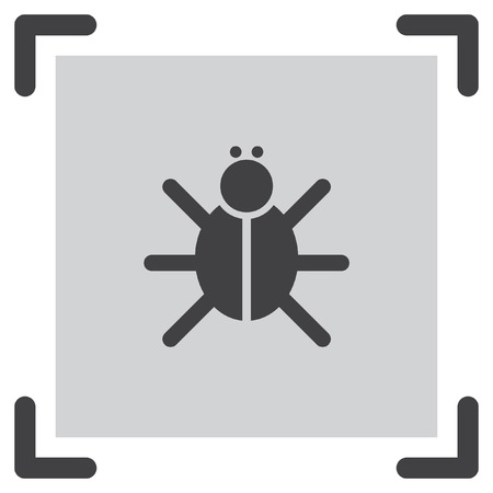 beetle: Bug vector icon. Insect symbol. Beetle sign.