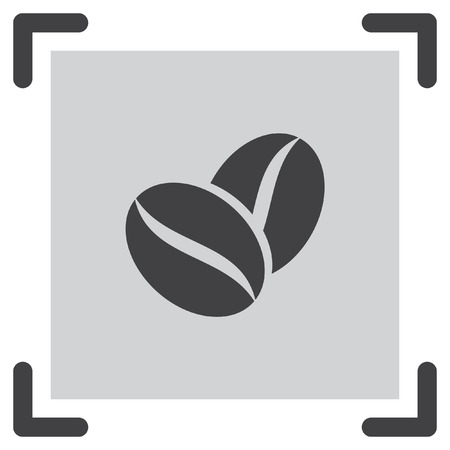 aromatic: Coffee Bean vector icon. Aromatic drink symbol.