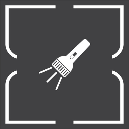 electric torch: Flashlight vector icon. Battery light sign. Hand lantern symbol Illustration