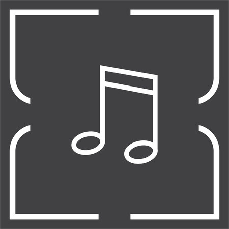 melody: Music note line vector icon. Musical symbol. Melody sign