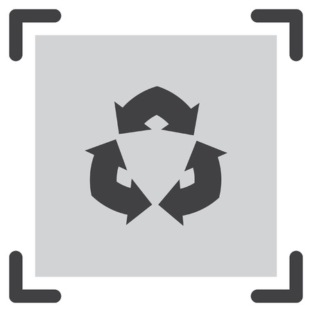flèche double: Double Arrow Sign vector icon. Recycle sign