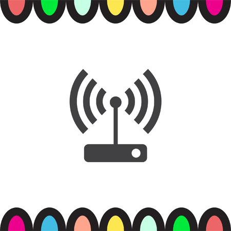 wi: WI FI vector icon. Wireless internet sign. Wlan symbol
