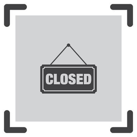 not working: Closed Sign vector icon. Not working label sign. Unopened board symbol.