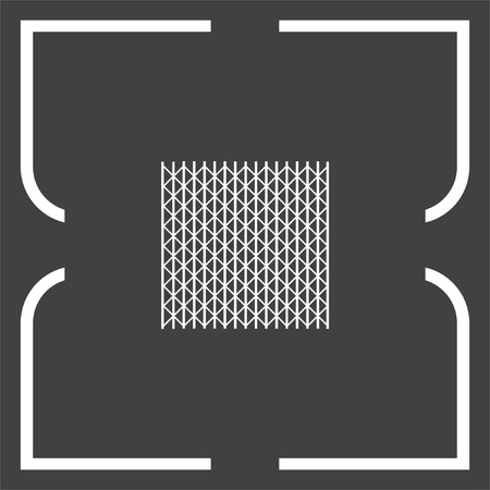 iron and steel: Metal fence vector icon. Iron gate. Steel security entrance symbol