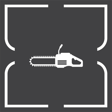 timber industry: Chainsaw vector icon. Timber industry symbol.