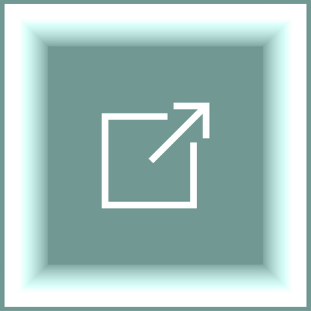 window sign: New window sign line vector icon. Open another tab button sign. Browser frame symbol Illustration