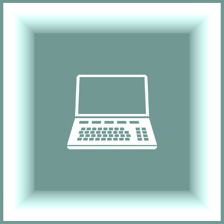 lap: Lap top vector icon. Computer sign. Personal computer symbol Illustration
