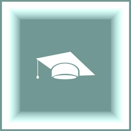 finals: Graduation cap vector icon. Finals sign. Diplomatic hat Illustration