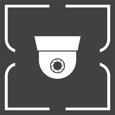 surveillance symbol: Surveillance vector icon. Security camera sign. Recording device symbol Illustration