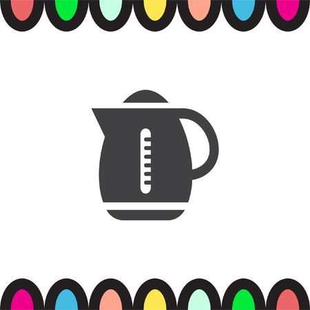 boiler: Water boiler vector icon. Kettle sign. Hot beverage symbol
