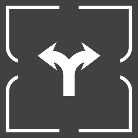 two way: Arrow two way vector icon. Direction sign line icon.
