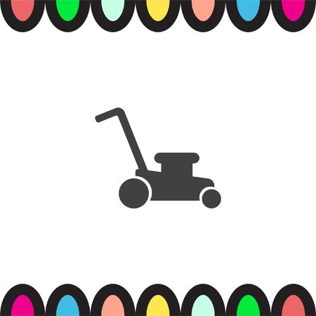 garden maintenance: Mower vector icon. Lawnmower sign. Landscaping symbol