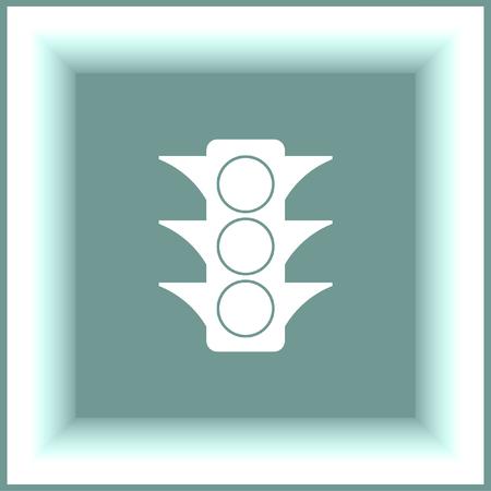 symbol traffic: Semaphore vector icon. Traffic light sign. Stoplight symbol Illustration