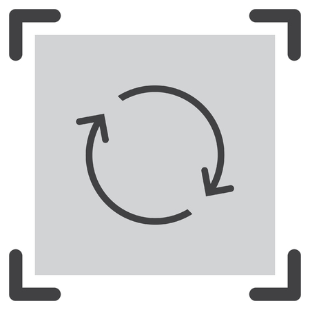 synchronize: Reload line vector icon. Refresh pictograph. Repeat or full rotation sign. Loop symbol. Illustration