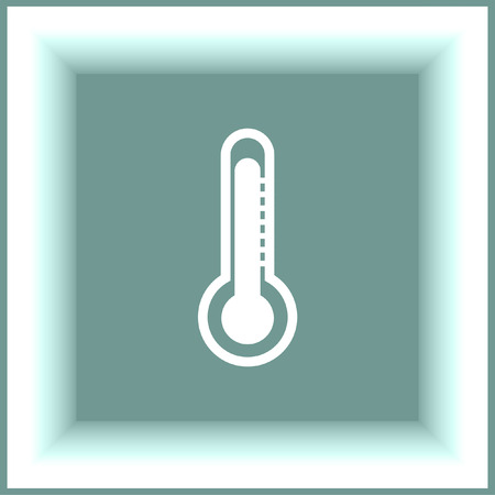 fahrenheit: Thermometer vector icon. Temperature measurement sign. Celsius and fahrenheit symbol Illustration
