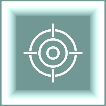 Target sign line vector icon. Success symbol. Focus sign.