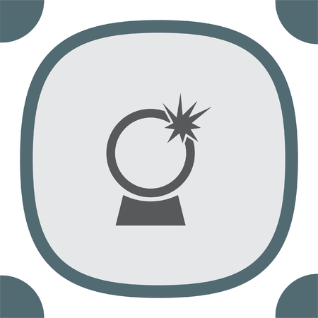 Crystal Ball vector icon. Magic sign. Witchcraft symbol