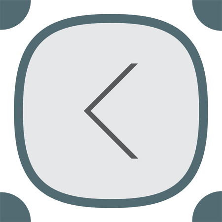 back button: Back arrow sign line vector icon. UI control back button. Illustration