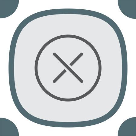 cancellation: Cancel vector line icon. Close sign icon. Reject sign icon. Illustration