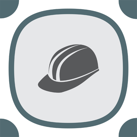 protective wear: Protective helmet vector icon. Construction head wear sign. Worker protective headgear symbol Illustration