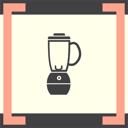 blend: Blender vector icon. Kitchen juice mixer. Fruit juice blender sign.