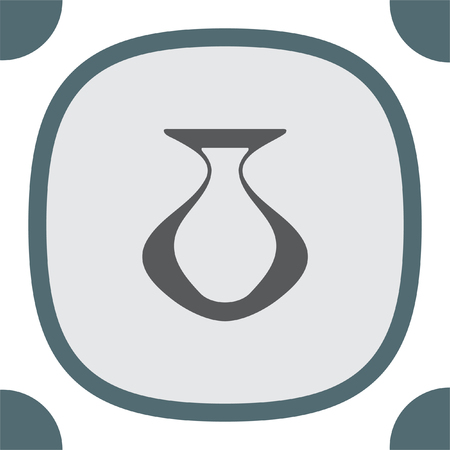 vasi greci: vettore icona Vaso. segno Ceramica. simbolo vaso di ceramica greca